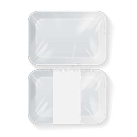 Home › free psd mockup › white plastic vacuum food tray. White Rectangle Blank Styrofoam Plastic Food Tray ...