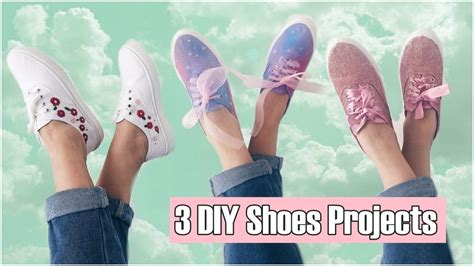 Diy Clothes! 3 Diy Shoes Projects (diy Sneakers, Fashion