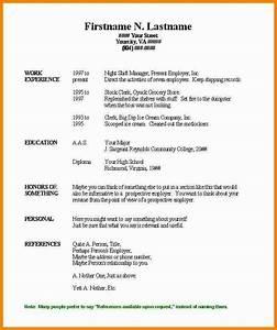 free basic resume templates microsoft word With basic resume template word