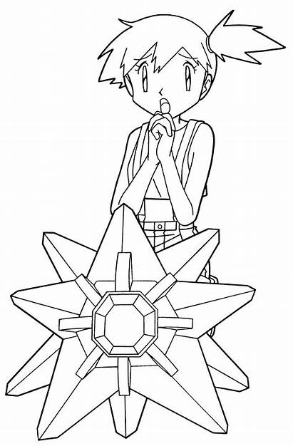 Pokemon Coloring Pages Misty Sheets Colouring Coloringpages1001