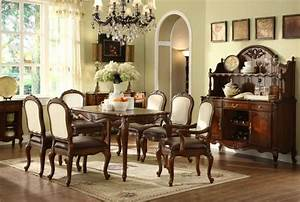 American, Style, Classic, Dining, Room, Wooden, Furniture, 7722