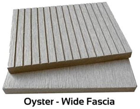 oyster wide fascia board composite decking cladding