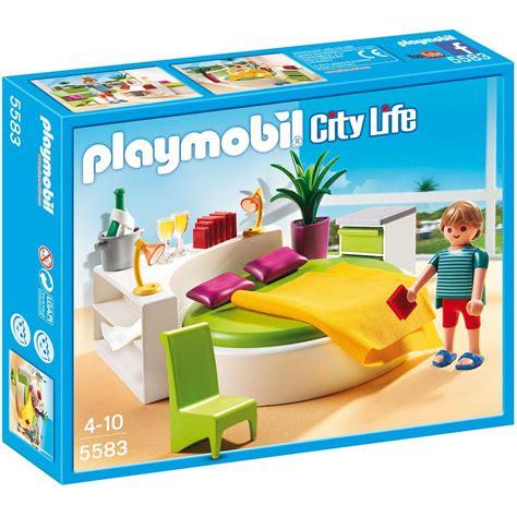 chambre avec lit rond playmobil city 5583 la