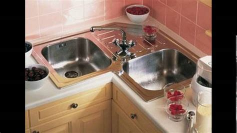small  shaped kitchen design corner sink youtube