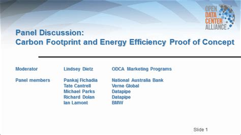 Carbon Footprint And Energy Efficiency Proof Of Concept