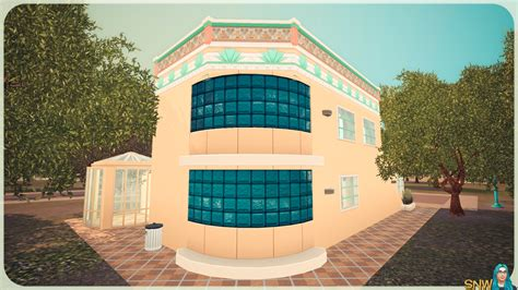 sunny art deco house snw simsnetworkcom