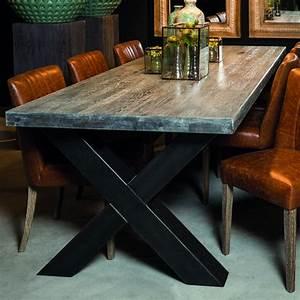 Table Pied Croisé : table ch ne de salle manger d cor lie de l 39 art la d co ~ Teatrodelosmanantiales.com Idées de Décoration