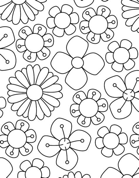 Kleurplaat Lentebloemen Volwassenen by Bos Lente Bloemen Kleurenisleuk Nl Kleurplaten Tekenen