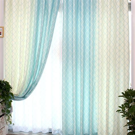 curtain awesome combination blue and white curtains ideas