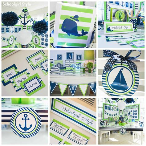 Nautical Themed Classroom Decorations by Preppy Nautical Monogram Classroom Theme By Schoolgirl