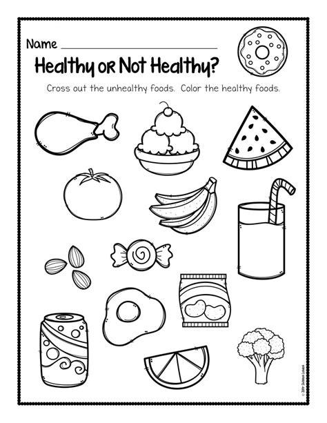 healthy foods worksheet free download the super teacher