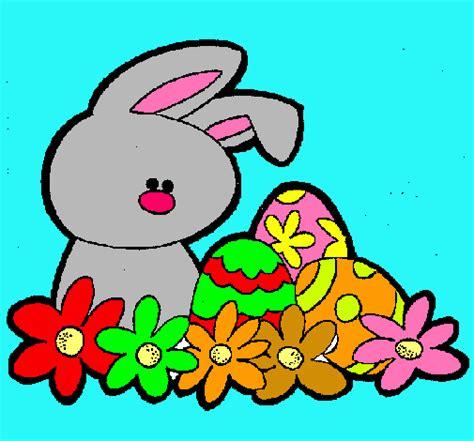 Dibujo de Conejito de pascua pintado por Saulo en Dibujos