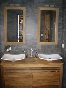 meuble doubles vasques de la salle d39eau de la suite With meuble de salle d eau