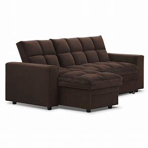 Sofas ashley furniture sleeper sofa leather sectional for Sectional sofa bed with chaise lounge