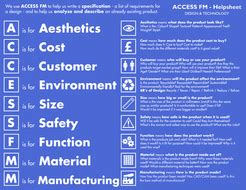 access fmm  sheet product analysis specification
