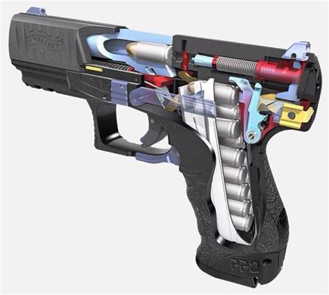 pin  rae industries  walther hand guns weapons guns