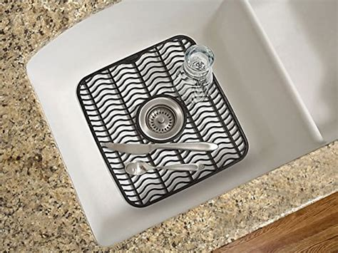 rubbermaid antimicrobial sink protector mat black waves
