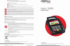 Ingenico Lane5000cl Contactless Rfid Payment Terminal User