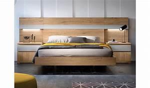 Tete De Lit Moderne : lit moderne pour adulte avec chevets t te de lit led pour chambre adulte ~ Teatrodelosmanantiales.com Idées de Décoration