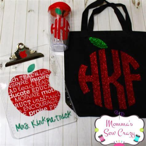 ideas  monogram teacher gifts cricut teacher gifts  teacher apple gifts