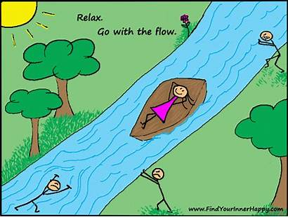 Relax Happiness River Into