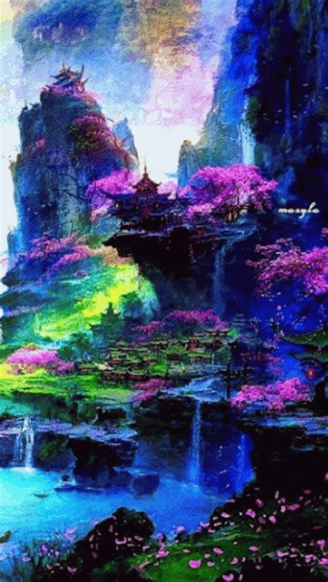 color paradise fantasy landscape landscape wallpaper