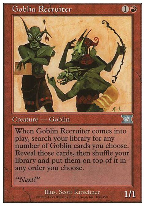 goblin recruiter mtg card