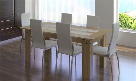 fabricant de chaises de cuisine salle à manger complète 6 chaises simili cuir blanc ou noir