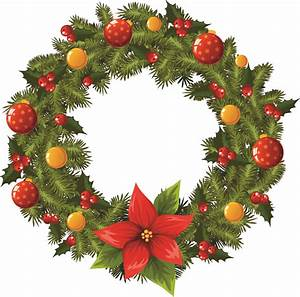 Christmas wreath 2 vector Free Vector / 4Vector