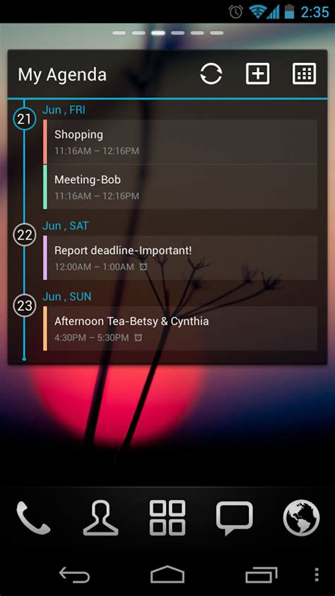 calendar widgets for android go calendar widget android apps on play