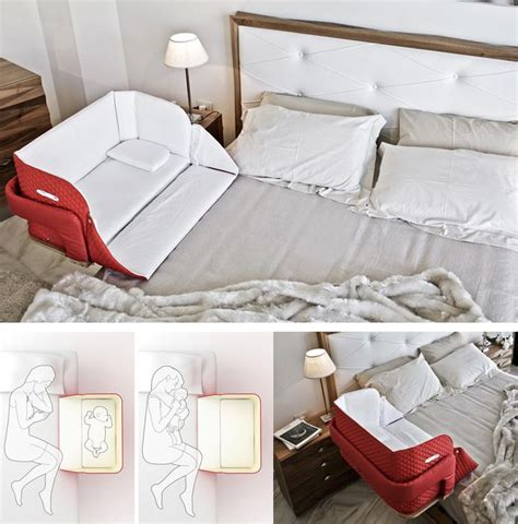 Half Crib That Attaches To Bed by The Belly Co Sleeper Attaches Onto Beds For Easy