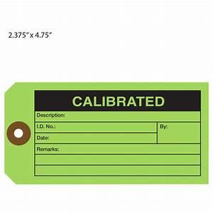 Custom printed calibration hang tags st louis tag for Calibration tag