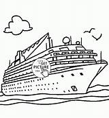 Cruise Ship Coloring Transportation Disney Drawing Printables Boat Columbus Ships Titanic Transport Printable Drawings Carnival Sheet Christopher Getdrawings Journal Discover sketch template