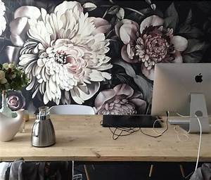 Papier Peint Grosses Fleurs : tendance flower power sur vos murs aventure d co ~ Dode.kayakingforconservation.com Idées de Décoration