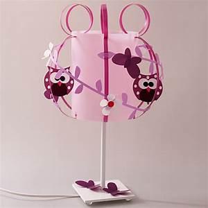 Lampe Chambre Fille : lampe mademoiselle chouette fabrique casse noisette ~ Preciouscoupons.com Idées de Décoration