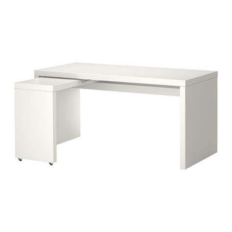 malm desk with pull out panel white ikea