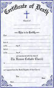 marriage certificate maker 7 best death certificate images on pinterest death