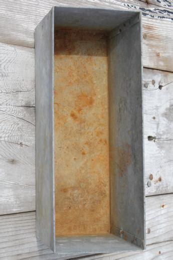 Rustic Vintage Zinc Planter Old Farm Primitive Galvanized