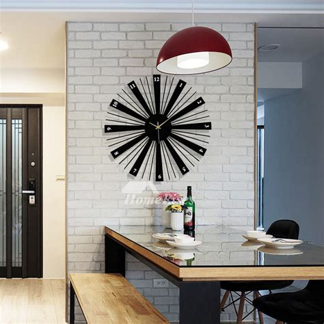 black wall clock   large decorative wooden