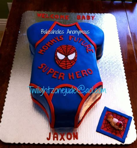 Spiderman Onsie Cake Cakecentralcom