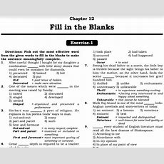 English Fill In The Blanks Points Practice Exercises Answers Pdf Matterhere