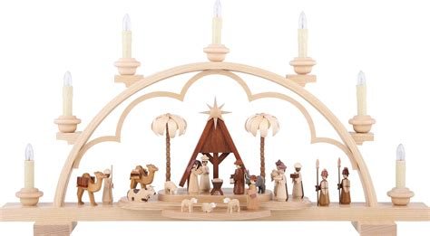 candle arch christmas story 64 cm 56in 120v electr us standard by m 252 ller kleinkunst