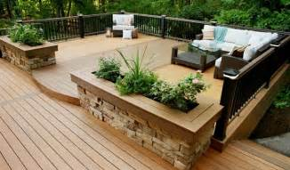 small backyard decks designs with best furniture 8