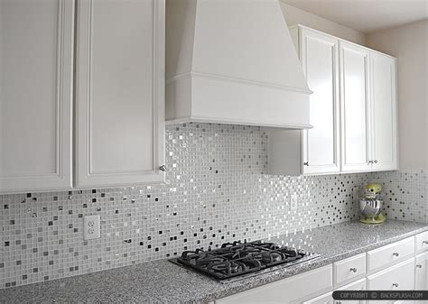 white glass metal backsplash tile luna pearl backsplashcom
