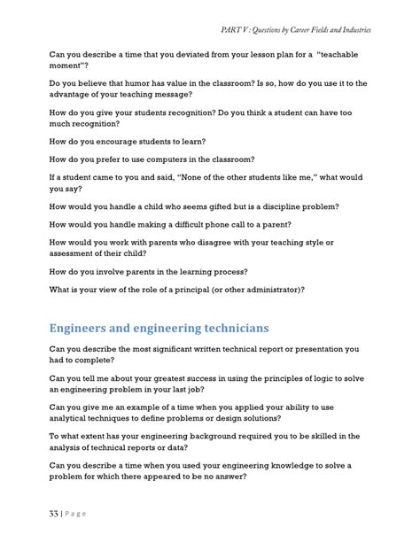detail oriented examples collection of job interview questions and the answers