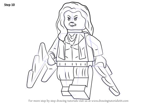 How To Draw A Lego Boat by Step By Step How To Draw Lego Scarlet Witch