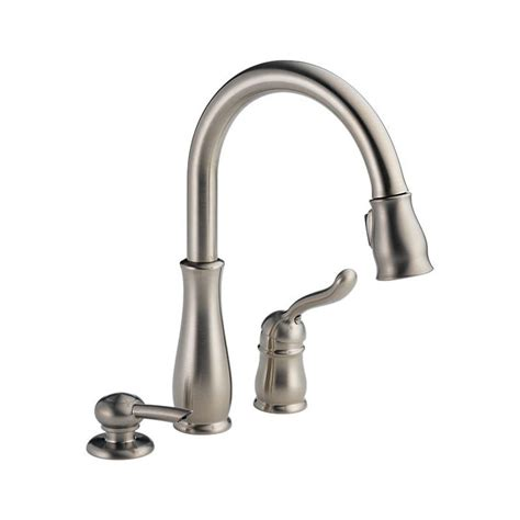 kitchen faucets pull 978 sssd dst leland single handle pull kitchen faucet