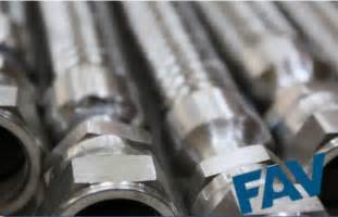 ss wire braided hose  flange connection fav