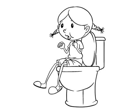Use The Bathroom Coloring Page