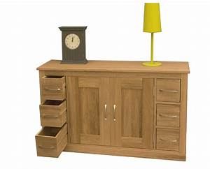 Mobel Oak Six Drawer Sideboard Living Room Furniture